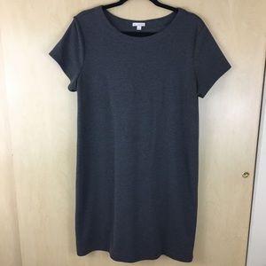 EUC GAP Grey Short Sleeve Sweater Smock Dress L